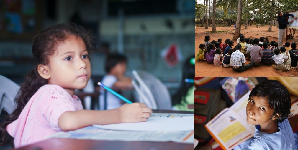 Umbrella contributes to education and clothing for poor